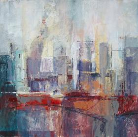 Collage cityscape - SOLD