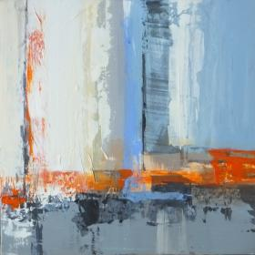 Cityscape triptych 3 - SOLD